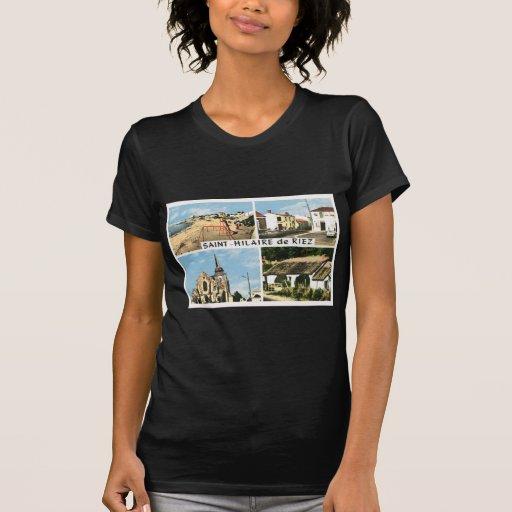 Imagem do vintage, France, Rua Hilário de Riez Tshirt