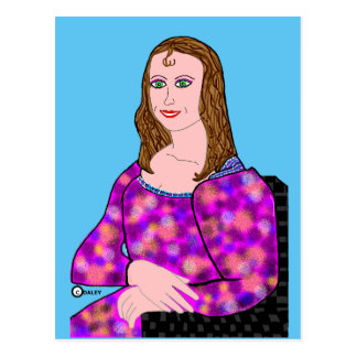 Imagem dos desenhos animados de Mona Lisa Cartão Postal