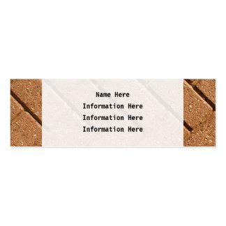 Imagem dos tijolos cartão de visita skinny
