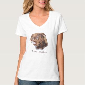 Imagem engraçada de Labrador do marrom bonito do Camiseta