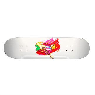 Imagem estilizado do design gráfico do baixista da skateboard