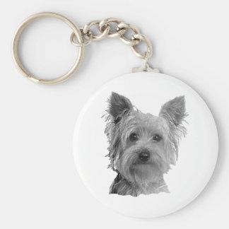 Imagem estilizado do yorkshire terrier chaveiro