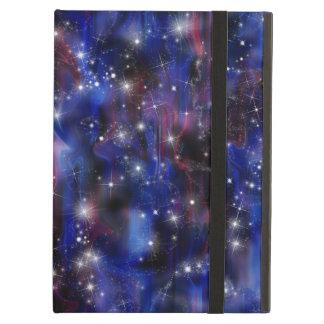 Imagem estrelado do céu da noite bonita roxa da