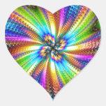 imagem florescente em estrela adesivo coração