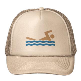 Imagem gráfica do ícone da natação na cor boné