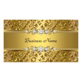 Imagem gravada do ouro damasco elegante elegante cartões de visitas