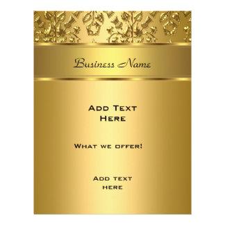 Imagem gravada do ouro do insecto damasco elegante panfletos personalizado