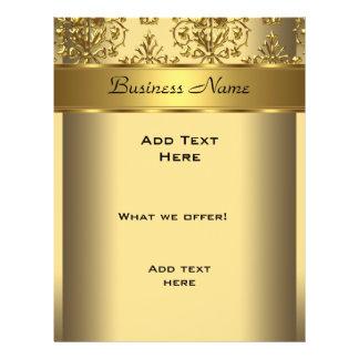 Imagem gravada do ouro do insecto damasco elegante panfleto personalizado