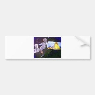 imagem holográfica projetada da máquina do tempo adesivos