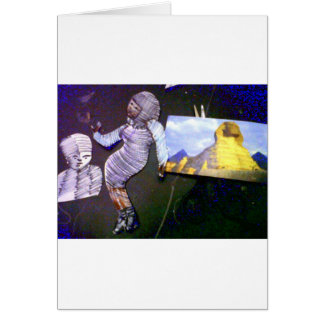 imagem holográfica projetada da máquina do tempo cartão comemorativo