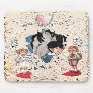 Imagem ilustrada vintage mousepad