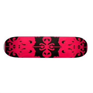 Imagem invertida preta & vermelha shape de skate 21,6cm