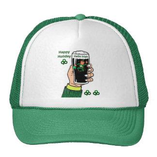 Imagem irlandesa da bebida para o boné