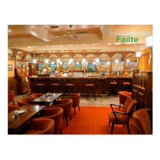 Imagem irlandesa do bar para o cartão