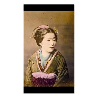 Imagem japonesa velha cerca de 1870 cartão de visita