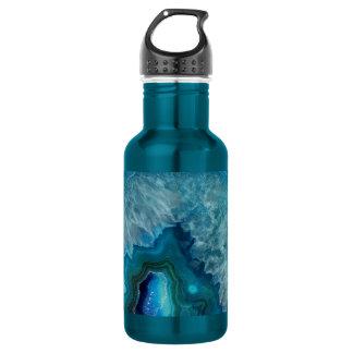 Imagem mineral do cristal da ágata da rocha azul