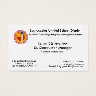 Imagem nova, Lucy Gonzalez, Los Angeles, CA 90017… Cartão De Visitas