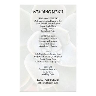 Imagem ocasional do Succulent do menu do casamento