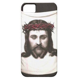Imagem religiosa mexicana do vintage - coroa Jesus Capa Barely There Para iPhone 5