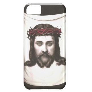 Imagem religiosa mexicana do vintage - coroa Jesus Capa Para iPhone 5C