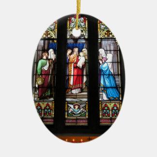 Imagem religiosa para o ornamento oval
