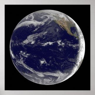 Imagem satélite da terra 2 posteres