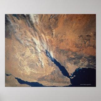 Imagem satélite da terra posteres