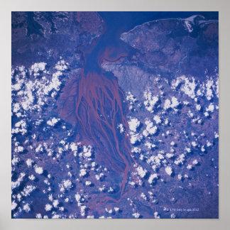 Imagem satélite da terra poster