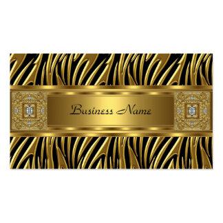 Imagem selvagem do olhar da jóia do preto da zebra cartão de visita
