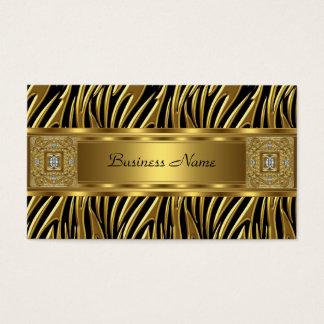 Imagem selvagem do olhar da jóia do preto da zebra cartão de visitas