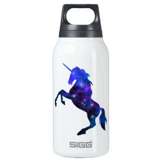 Imagem sparkly do unicórnio bonito azul da galáxia garrafa de água térmica