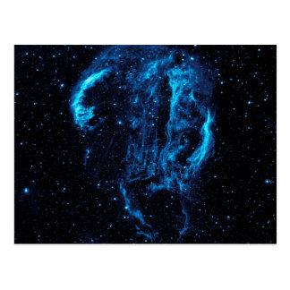 Imagem ultravioleta da nebulosa do laço do Cygnus Cartão Postal