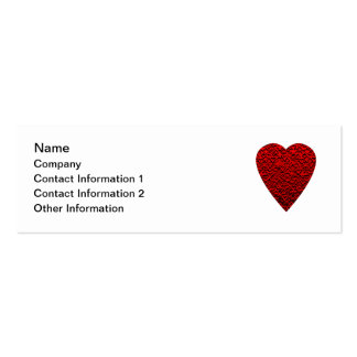 Imagem vermelha brilhante do coração cartao de visita