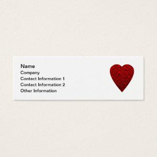 Imagem vermelha brilhante do coração cartão de visitas mini