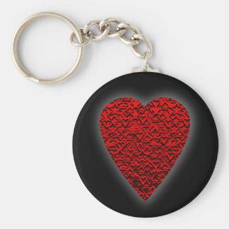 Imagem vermelha brilhante do coração chaveiro
