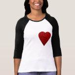 Imagem vermelha brilhante do coração tshirt
