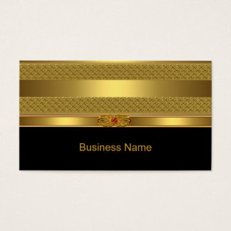 Imagem vermelha da jóia de Deco do ouro elegante Cartão De Visitas
