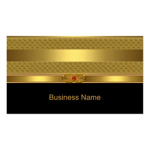 Imagem vermelha da jóia de Deco do ouro elegante d Modelo Cartões De Visitas