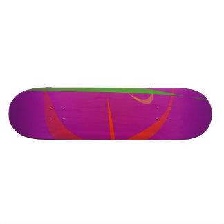 Imagem vermelha do abstrato do camarão shape de skate 20,6cm