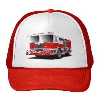 Imagens da viatura de incêndio para chapéus do boné
