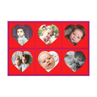 Imagens dadas forma coração da família