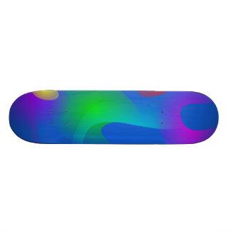 Imagens de flutuação na arte abstracta azul skate