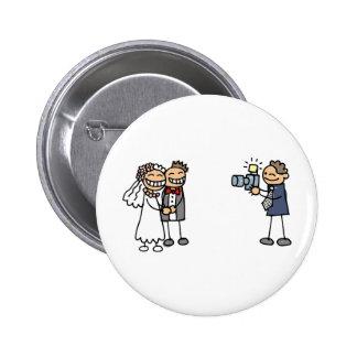 Imagens do casamento da fotografia do fotógrafo do bóton redondo 5.08cm