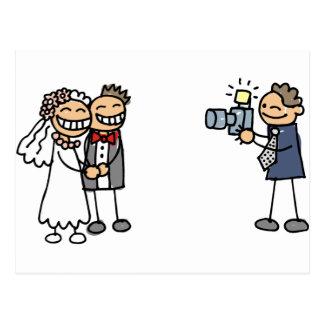 Imagens do casamento da fotografia do fotógrafo do cartão postal