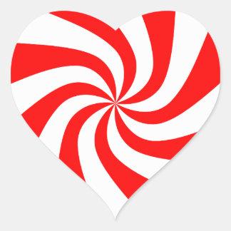 Imagens do Natal dos doces Adesivo Coração