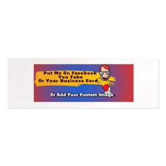 Imagens feitas sob encomenda para o cartão de cartão de visita skinny
