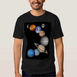 Imagens planetárias do montagem do sistema solar camiseta