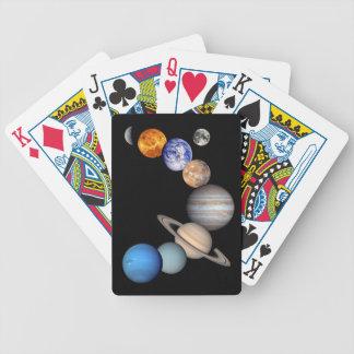Imagens planetárias do montagem do sistema solar jogos de baralho
