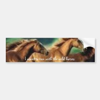 images6, eu quero funcionar com os cavalos selvage adesivo