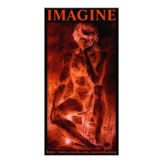 IMAGINE a arte feita sob encomenda da foto Cartão Com Foto